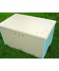 hvid kiste til opbevaring