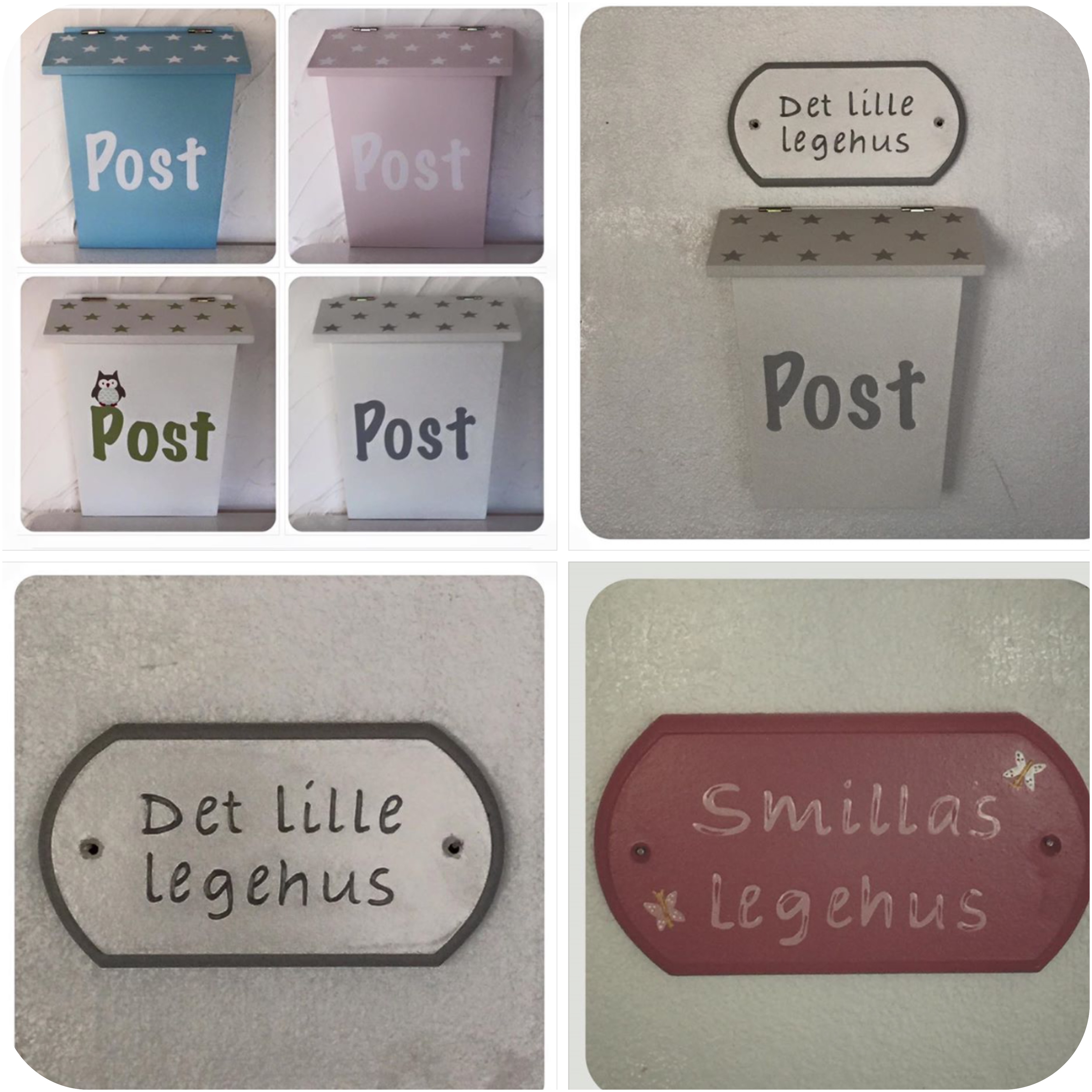 Nye Postkasse hvid – Dukkehuset ZH-41